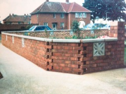Garden walls built by Hancocks Brickwork